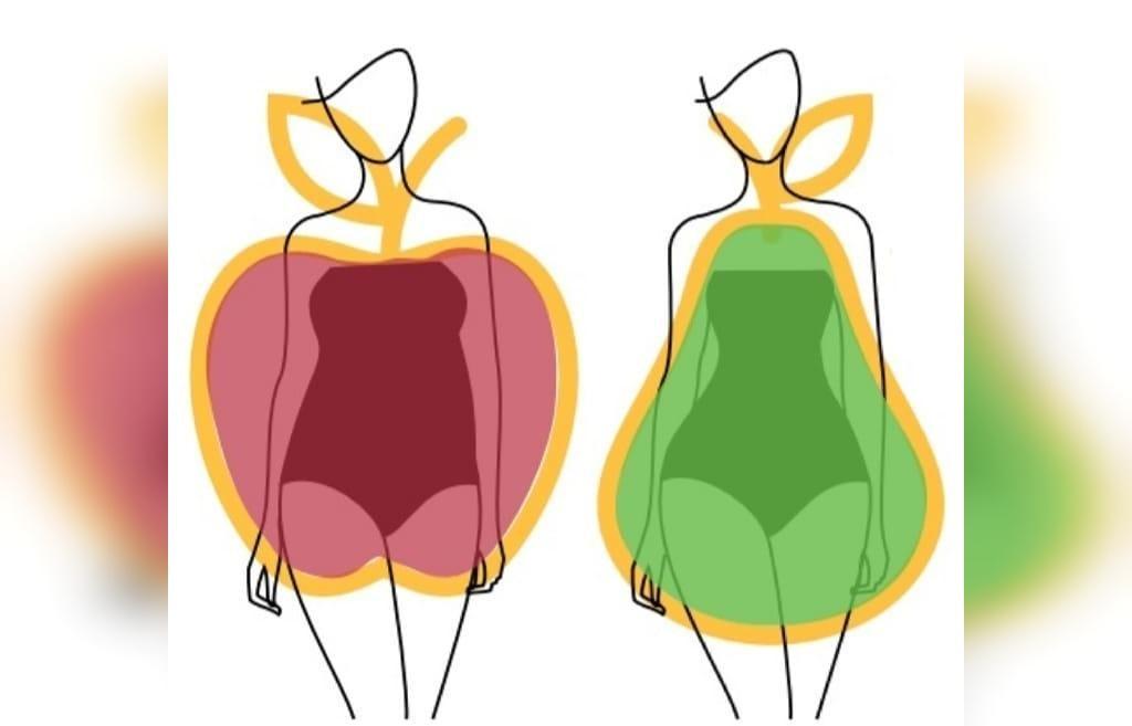 چاقی شکل گلابی: