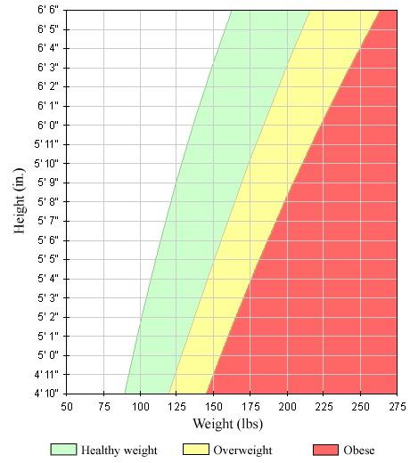 بی ام آی یا نمایه ی توده ی بدنی بین پانزده تا شانزده نشان دهنده ی چه شرایطی برای بدن فرد است؟